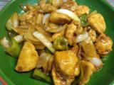 酢鶏、コーンのツナサラダ、紫蘇山芋納豆、トマトの中華スープ。