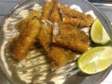 サバのフライ、フライドポテト、鶏とゴボウの煮物、シーチキンサラダ。