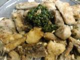 鮪のアラの洋風竜田揚げ、レンチン焼きナス、生野菜、アオサのみそ汁