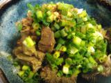 ハンバーグ、胸肉のサラダ、牛スジ煮込み、ジャガイモのチーズグリル