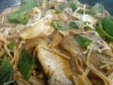 ハムのサラダ、ヒラスの刺身、鯛のグリル、3種盛