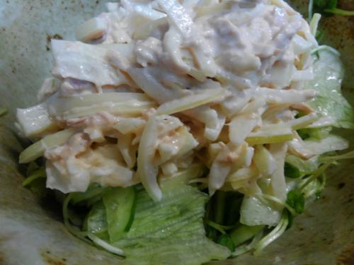 玉ネギのツナサラダ